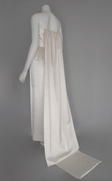 Silk-satin Long-train Dress
