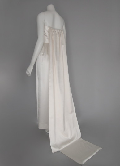 Silk-satin Long-train Dress1