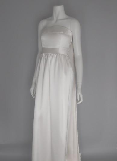 Silk-satin Bare-top Dress3
