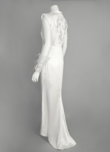 Silk-satin Cut out  Dress1