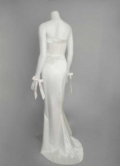 Silk-satin Bare-top Dress2